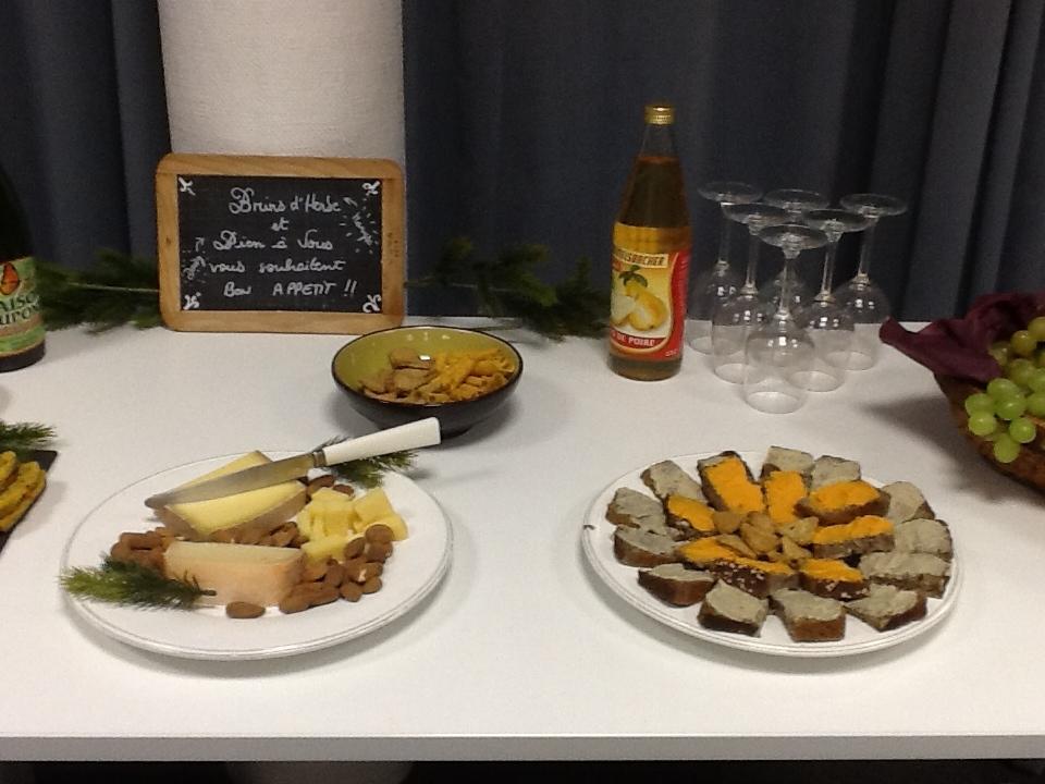 Exemples d'assiettes du buffet du 7 octobre